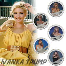 WR Ivanka Trump 999 Silver Clad Coin Set 5pcs Lot Sexy Supermodel New Year Gifts