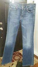 """Women's  7 For All Mankind Jeans Size 28 ( Rise 8) """"Boy Cut"""" Button Fly"""