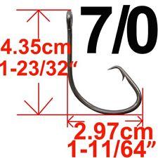 100pcs Offset Sport Circle Fishing Hook Eyed Barbed Carp Coarse Bass Fishhook #8