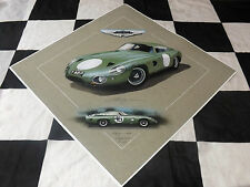 ASTON Martin dp214 Project 214 Roy Salvadori 1963 DB4 DBR NUOVO pittura arte print