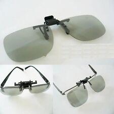 2 Pairs Clip-On Passive 3D Glasses with Polarized Plastic Lenses for Vizio HDTV