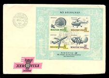 HUNGARY 1967 AEROFILA MINI SHEET FIRST DAY COVER