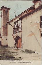 Spain Granada - Compas de Santa Isabel old unused postcard