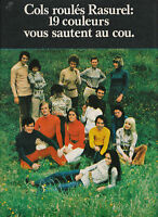 Publicité ancienne Rasurel cols roulés 1970 issue de magazine