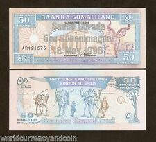 SOMALILAND 50 SHILLIN P17 B 1996 COMMEMORATIVE CAMEL BIRD UNC SILVER TEXT NOTE