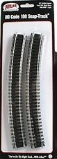 "Atlas #837  24"" Radius Curve Track - 6 Sections HO Code 100 Nickel Silver Rails"