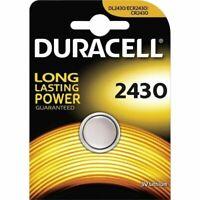 1 x Duracell CR2430 3V Lithium Coin Cell Battery DL2430 K2430L ECR2430 Brand New