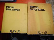 1994 DAEWOO ENGINE POWERED LIFT TRUCKS SERVICE MANUAL SET D20S D25S D30S GC G