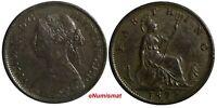 Great Britain Victoria (1837-1901) Bronze 1872 Farthing KM# 747.2