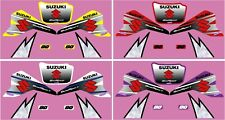 SUZUKI LT80 QUAD GRAPHIC / DECAL KIT FACTORY STYLE YELLOW, RED, WHITE OR PURPLE