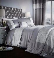 Catherine Lansfield Luxor Jacquard Silver/Grey Duvet Cover Bedding Set Range