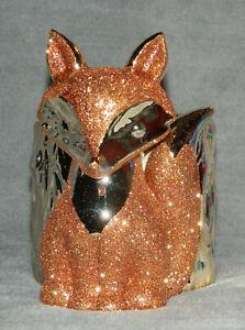 BATH & BODY WORKS ROSE GOLD GLITTER FOX FOAMING SOAP HOLDER