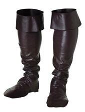 Surbottes Noires Pirate Mousquetaire Accessoire botte Déguisement Homme