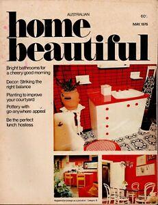 Australian Home Beautiful - May 1976 - Vintage 1970s Home Decoration magazine