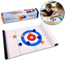 Table Top Curling Game Compact Curling Board Game