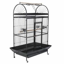 Mobile Parrot Cage Antique Style Outer Perch Waste Catcher + Accessories