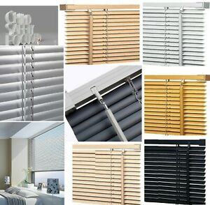 Pvc Venetian Blinds Easy Fit Trimable Home Office Window VENETIAN Blind All Size
