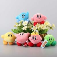 6 Pcs/Set Star Kirby Plush Toys Cute Keychain Popopo Small Pendant Dolls Kids