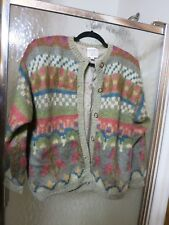 Susan Bristol Women's M Handknit Mohair 1991 Sweater Jacket with Silk Lining