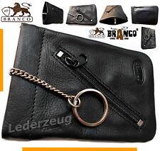 Branco Schlüsseltasche Leder Schlüsselglocke Autoschlüsseltasche Börse swz NEU