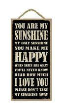 "YOU ARE MY SUNSHINE Primitive Wood Hanging Plaque 5"" x 10"""