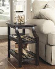 Ashley Furniture Chair Side End Table Mestler Rustic Brown T580-7 Table NEW