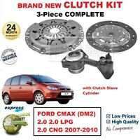 FOR FORD CMAX (DM2) 2.0 2.0 LPG CNG 2007-2010 BRAND NEW 3PC CLUTCH KIT with CSC