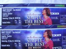 TINA TURNER Musical **Simply the best**  2 Tickets  Sa.12.5. DÜSSELDORF Capitol