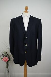 New GIEVES & HAWKES Navy + Gold Sport Jacket £695 Size 48R/58 Mr Porter Cashmere