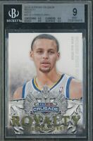 💎2013 Stephen Curry PANINI CRUSADE ROYALTY GOLD 30 /10 BGS 9 9.5 subs PSA prizm