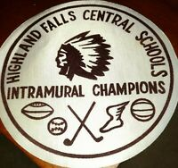 Highland Falls NY Central Schools Intramural Champions Patch Unused Satin/Velvet