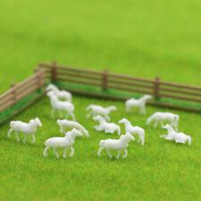 1: 150 unbemaltes Modellpferd White Farm Animals Horses N Modelllandschaft