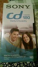 NUOVO Sony CD180 3 ORE VHS CASSETTA NASTRO