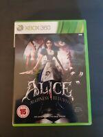 Alice Madness Returns Microsoft Xbox 360 Game Wonderland EA Mcgee Games