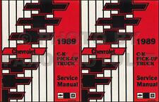 1989 Chevy CK Truck Shop Manual Chevrolet Cheyenne Silverado Scottsdale Pickup