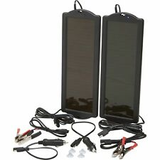 Ironton Solar Panel Twin Pack- Two 12V Amorphous Solar Panels 1.5 Watt Output