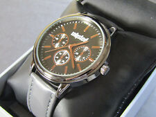 Unlisted Kenneth Cole Men's Analog Gray Leather Band Watch UL1967