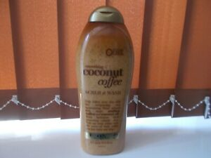 Usa Imported OGX Large Smoothing Coconut Coffee Scrub & Wash 577mls