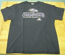 Baltimore Ravens 2012 American Football Conference Champions T-Shirt XL NFL NWOT