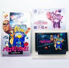 Parodius Da ! Nintendo Famicom FC KONAMI Boxed Used G Japanese Retro Game Import