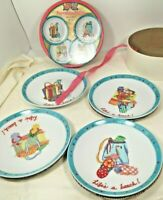 222 Fifth  Life's a Beach set of four Appetizer/Dessert Plates