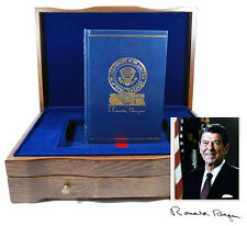 Easton Press Ronald Reagan AMERICAN LIFE Signed Limited First Edition Oak Box