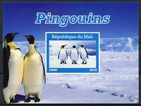 Mali 2018 MNH Penguins Emperor Penguin 1v IMPF M/S Pingouins Birds Stamps