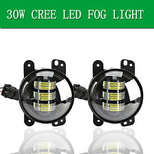 Pair 30W 4 inch CREE LED Fog Light Driving Lamps Kit For 07~14 Jeep Wrangler JK