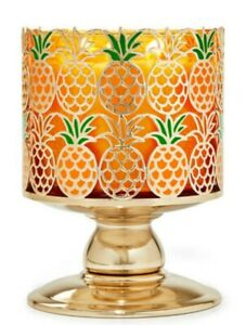 Bath & Body Works Pineapple Pedestal 3 Wick Candle Holder Stand