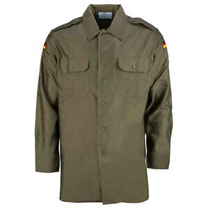 Genuine German Army Bundeswehr Olive Green Field Shirt, Size Large Supergrade