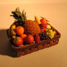 Fruit in Basket ~ Doll House Miniature food ~ 1/12th scale