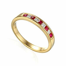Princess Eternity Ruby Natural Fine Rings