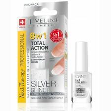 EVELINE 8in1 INTENSIVE NAIL CONDITIONER POLISH TOTAL ACTION SILVER SHINE 12ml