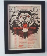 NAZARETH*Rampant*Tour*1974*ORIGINAL*POSTER*AD*FRAMED*FAST WORLD SHIP